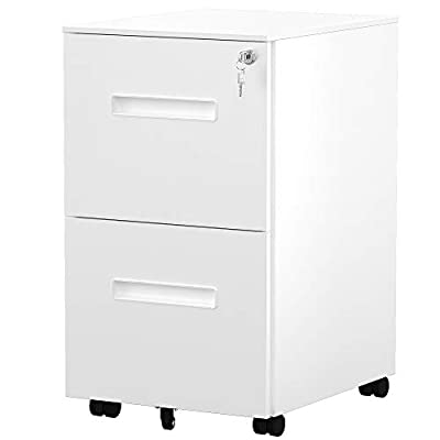 Amazon - Save 20%: YITAHOME 2-Drawer Rolling Filing Cabinet Office Drawers, Lockable Office…