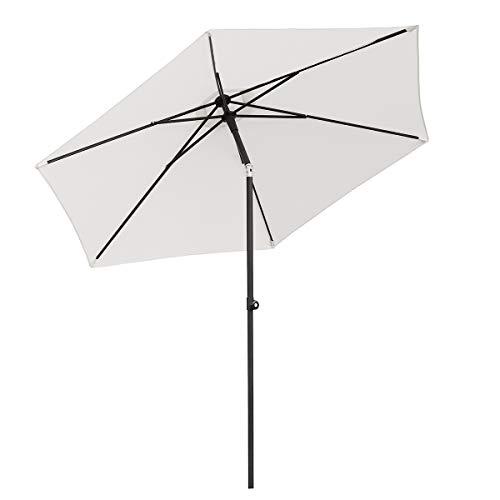 Sekey 270cm Aluminium Sonnenschirm | Push up Marktschirm | Gartenschirm | Terrassenschirm für Pool | Garten,Sonnenschutz UV50+, Creme