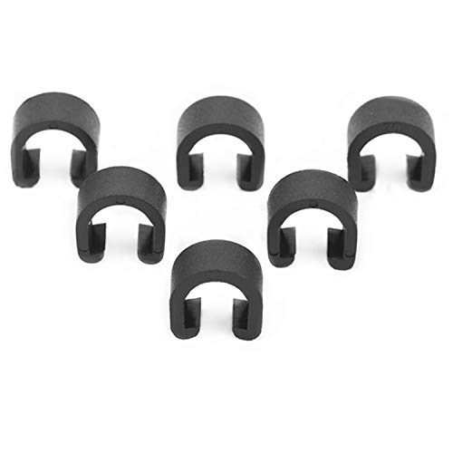 PPX 50 Pcs Black Bicycle C-Clips Clamps, Road Bicycle Mountain Bike C Clips Housing Hose Guide Clamps, for Brake Derailleur Shift Cables