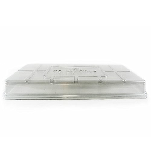 Plant Tray Clear Plastic Humidity Domes: Pack of 5 - Fits 10 Inch x 20 Inch Garden Germination Trays - Greenhouse Grow Covers