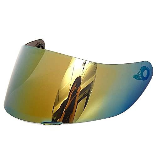 Visor de Casco Encaja AGV K1 K5 K3SV Casco no Encaja K3 / K4 Reemplazo de Casco de Motocicleta/Visera de Repuesto Listo para iridio (Color : Oro)