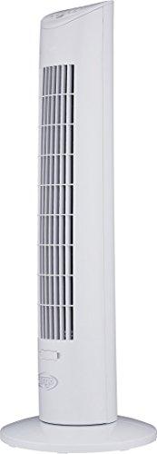 ARGO Ivy Tower, Ventilatore a Torre, Oscillazione Auto, 3 Velocità di Ventilazione, con Telecomando e Timer, Altezza 78 cm