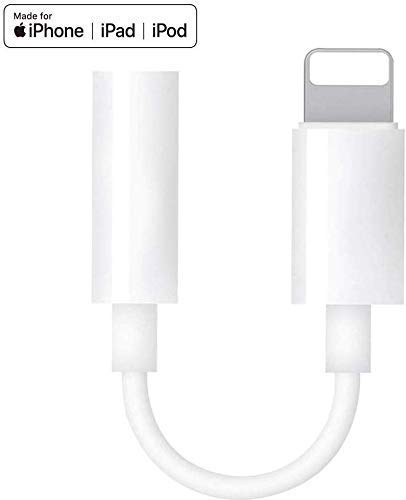 (Apple MFi Certified) iPhone Headphone Adapter,Lightning to 3.5mm Headphones/Earbuds Jack Adapter Aux Cable Earphones/Headphone Converter Accessories Compatible with iPhone11/X/XS/XR/8/7,ipad,iPod
