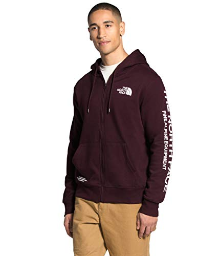 The North Face Men's Brand Proud Full Zip Hoodie, Root Brown/TNF White, S