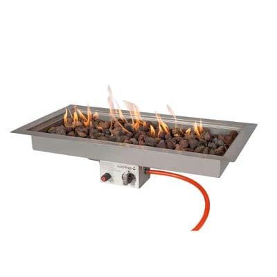 Easyfires Einbaubrenner Gas Rechteckig 78 x 38 cm für Feuertisch, Feuerstelle, Gasfeuerstelle, Rostfreier Stahl, Einsatz tischkamin