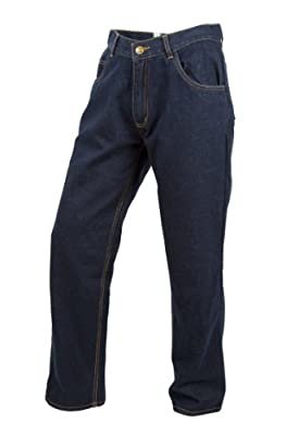 ScorpionExo Covert Jeans Men's Reinforced Motorcycle Pants (Blue, Size 40)
