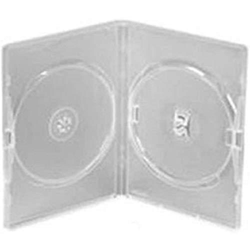 Network Trading 25 boîtiers doubles transparents pour DVD avec film de protection.