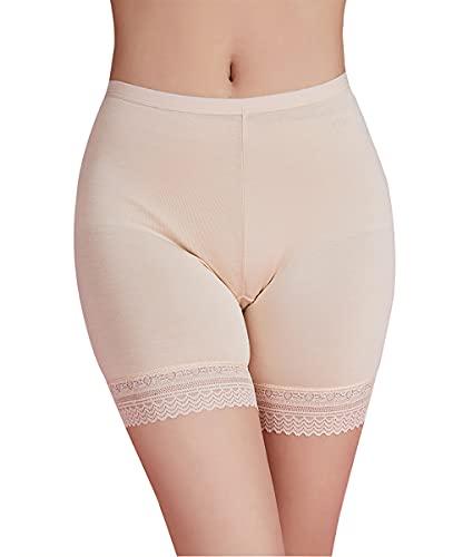 Anti Rozaduras Bragas Mujer Verano Elástico Falda Braguitas Invisible Sin Costuras Bóxer Moldeador Panty...