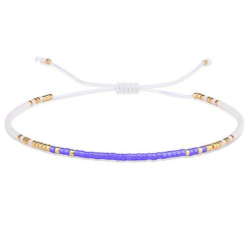 KELITCH Candy Farben Miyuki Perlen Freundschaft Armband Handgemachte Wrap Armbänder Einstellbar für Frauen