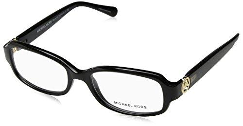 Michael Kors Damen 0MK8016 Sonnenbrille, Black/Black Glitter, 52