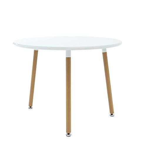Tavolo da Pranzo Rotondo Fisso Scrivania in Legno con Gambe in Legno, Culiacan S, Sala da Pranzo...