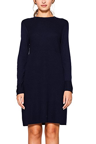edc by ESPRIT Damen 107CC1E009 Kleid, Blau (Navy 400), Small
