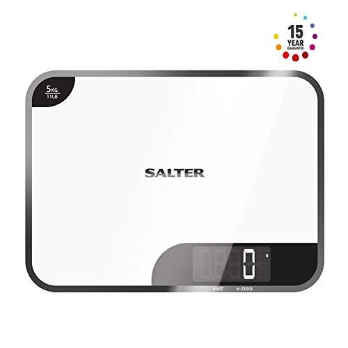 SALTER digitale Küchenwaage Mini-Max, Wiegen von Zutaten, Max Traglast 5kg, Metrisch & Imperial, Stylisches Design, Leicht zu reingen