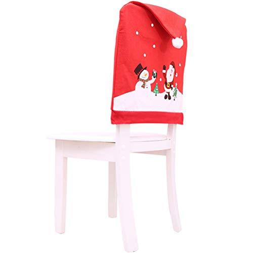 NIU MANG - Juego de 6 Tapas para sillas de Navidad y 6 Fundas para decoración navideña, para decoración navideña, 24 x 20 Pulgadas