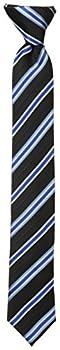 Dockers Big Boys  Stripe Clip On Tie Black One Size