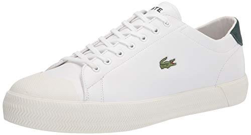 Lacoste Men's Gripshot Sneaker, Wht/Dk Grn/Leather/Suede, 13