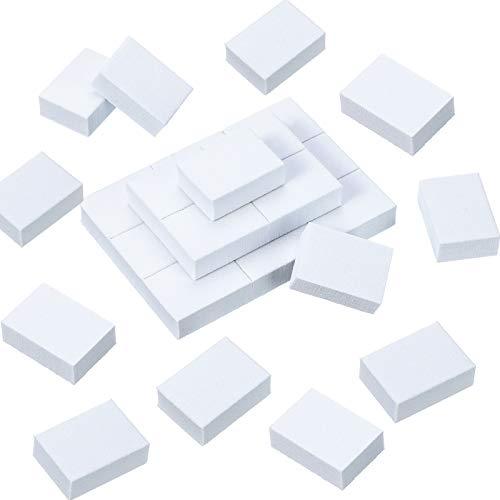 150 Stück Mini Nagel Schleifen Block Nagel Puffer Block Nagel Polieren Feilen Poliermaschine Doppelseitige Streugut Maniküre Nagelspitzen Werkzeug für DIY Nagel Kunst (Weiß)