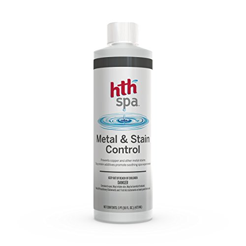 HTH Spa 86224 Metal and Stain Control Spa and Hot Tub Cleaner, 16 fl oz