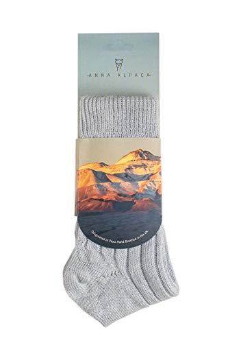 Anna Alpaca - Luxuriously Soft, Thick and Warm Alpaca Bed Socks (Blue, Medium UK 6-8)