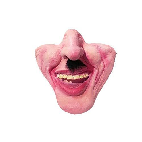 Hundemundschutz, Kreative/lustige Maske mask - Anti-Beiß- / Anti-Verschluck- / Anti-Ruf , Verwendung für Mops/französische Bulldogge/englische Bulldogge - Einheitsgröße Heimtierbedarf