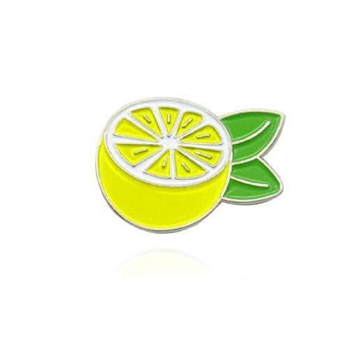 wangk Gelbe Zitrone Baum frische Frucht Zitrone Anstecknadel Zitrone geschnitten in der Hälfte Denim Tasche benutzerdefinierte Abzeichen Style1