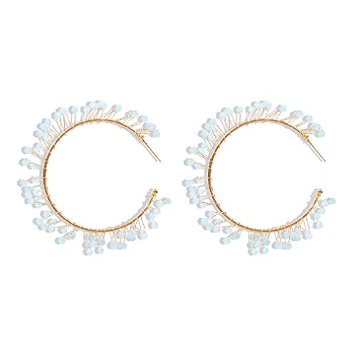 Ai.Moichien Dangle Hoop Earrings Natural Stone Fashion Gold Plated Jewelry Women Vintage Hypoallergenic Accessories