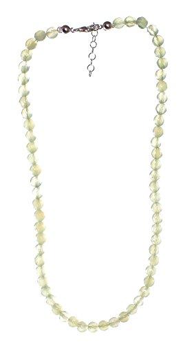Jade China (Serpentin) Kette Kugel 6 mm mit Karabinerverschluss, Jade China Perlenkette 45 cm lang