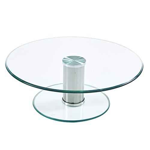 Hotel restaurante mesa giratoria de vidrio templado mesa redonda para el hogar mesa giratoria de hotel elevada mesa giratoria de vidrio doble