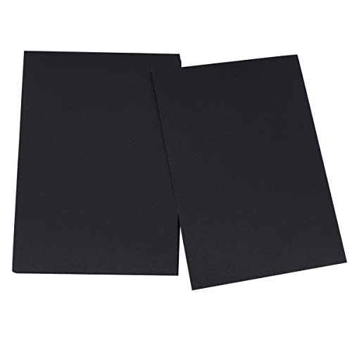 NUOBESTY 100 Blatt Schwarzes Kraftpapier Kopierpapier für Kinderzeichnung Kunst Malerei DIY Handarbeit