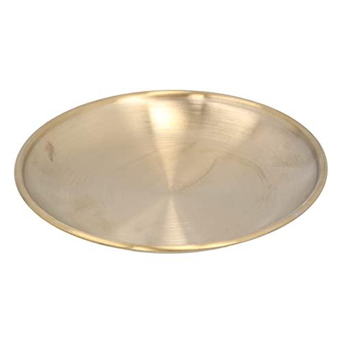 HERCHR Gold Runde Aufbewahrungstabletts, Handtuch Tablett Dekorative Serviertablett Handtuch Teller Tee Tablett Obst Tabletts Kosmetik Schmuck Organizer, 5,5 Zoll