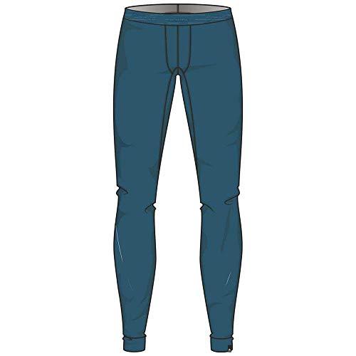 Odlo Suw Bottom Pant Natural 100% Merino Warm sous-vêtement Homme, Blue Coral, XXL