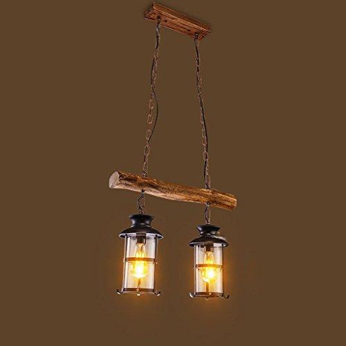 Edge To Kronleuchter Retro Industrielle Wind Kronleuchter Kreative Massivholz Licht Restaurant Stehtisch Massivholz Laterne Kronleuchter A + +