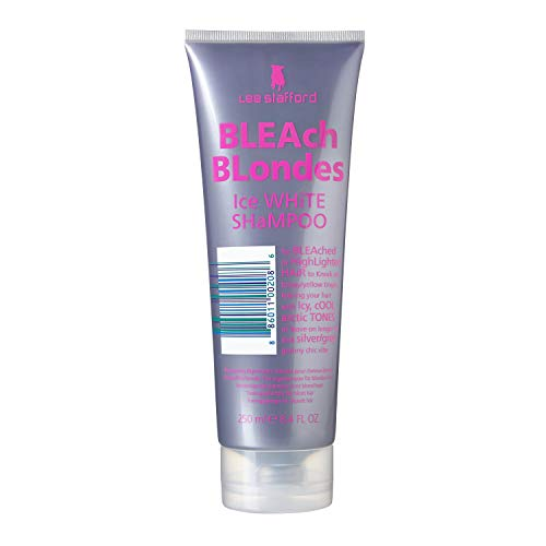 Lee Stafford Bleach Blondes Ice White Shampoo, 250 ml