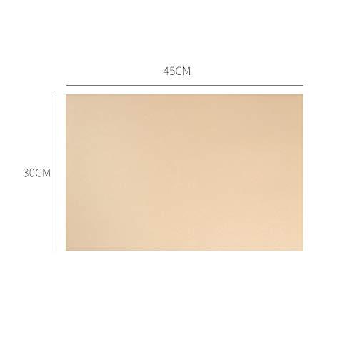 LH Zhenzhi Einfaches, Farbfarbenes Leder Wasserdichtes Öldichtes Anti-Skid-Pad 45 * 30Cm-1 Tabletten Gelb