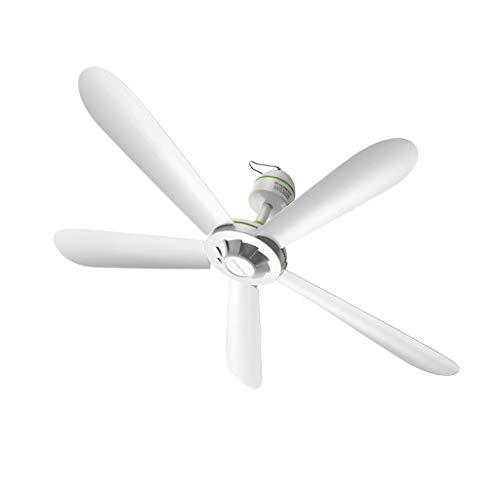 Enfriador evaporativo Ventilador De Techo De Hogar Blanco, Ventiladores De Techo Silenciosos De 5 Hojas
