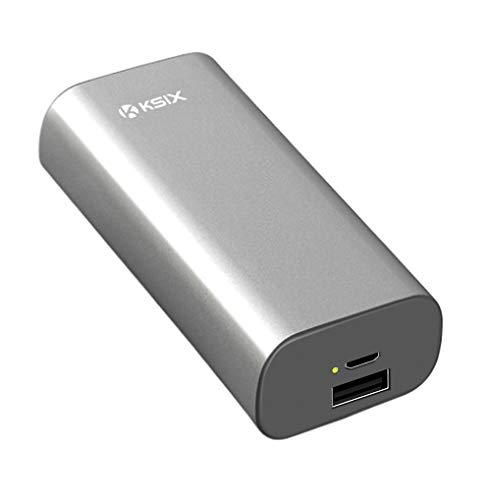 Ksix BXBA4000UM02 - Batería externa de 4000 mAH, color plata