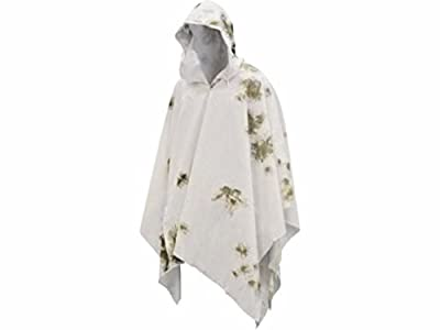 legendary-yes German Army Winter Snow Camo Cape Cotton Poncho Hunting Military Surplus