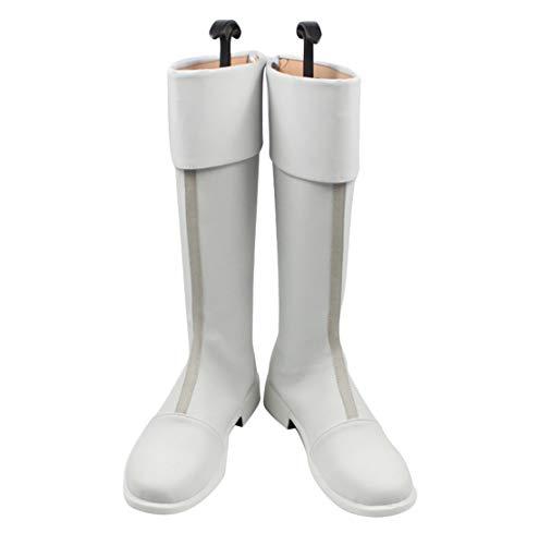 DUNHAO COS My Hero Academia Todoroki Shoto Halloween Cosplay Kostüm Schuhe Stiefel - Weiß - Männer US 8.5/EU 42