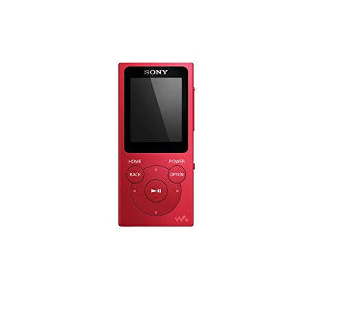 """Sony NW-E394L - Lettore Musicale Walkman 8 GB con Display 1,77 , """"Drag & Drop"""", ClearAudio+, PCM, AAC, WMA e MP3 (Rosso)"""