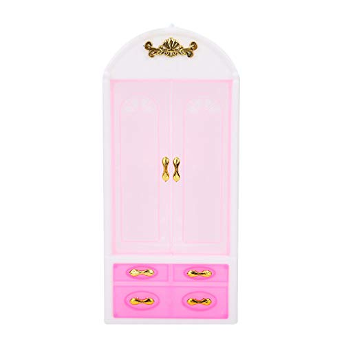 Dollhouse Wardrobe Plastic Cabinet Bedroom ature Furniture Doll House accessories, Bedroom ature Accessories Girls Toys