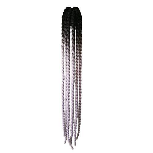 KLOP256 Casco de pelo femenino de la decoración de Hong para la motocicleta Rampa Trenzas de la Rampa de Caballo Ventosa Bicicleta Coletas Reutilizables Gradiente Twisting (# 06)