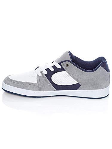 ES Herren Accel Slim Skate-Schuh, Grau Weiß Marineblau, 45 EU