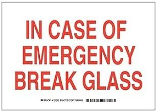 Brady 127261 Fire Safety Sign, Legend