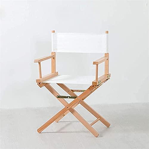 Silla plegable de jardín, sillas plegables Silla de director plegable de madera, fuerte marco de madera maciza y asiento de tela Oxford para actividades al aire libre, camping, viajes, sillas de campi