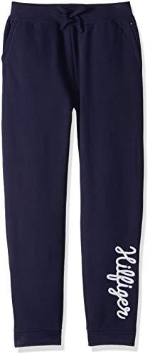 Tommy Hilfiger Mädchen Jogger Pants with Velcro Outside Seams Jogginghose, Nachtblau, Klein