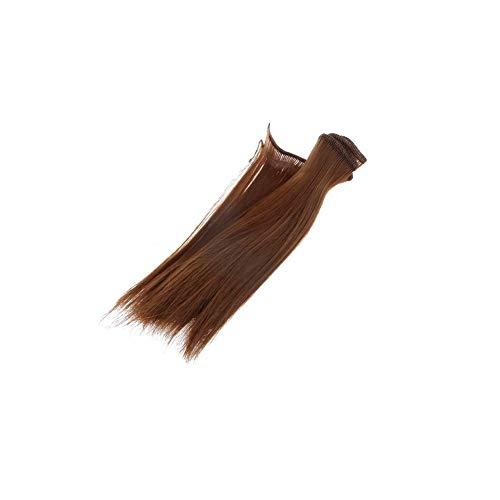 15cm muñeca peluca para BJD SD muñecas recta postizo sintético Artesanía pelo...