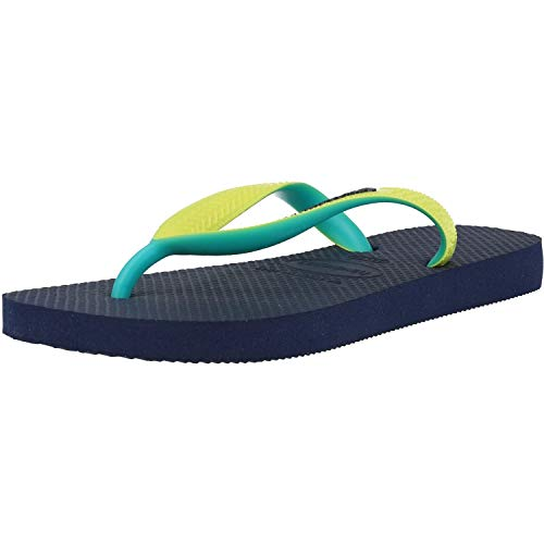 Havaianas Top Mix, Chanclas Unisex Adulto, Multicolor (Navy/Neon Yellow), 35/36 EU