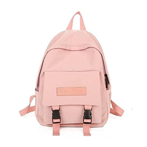 Waterproof Nylon Backpack Teenage Pure Colour Schoolbag Women Backpacks Multi-pocket Leisure Travel Backpack