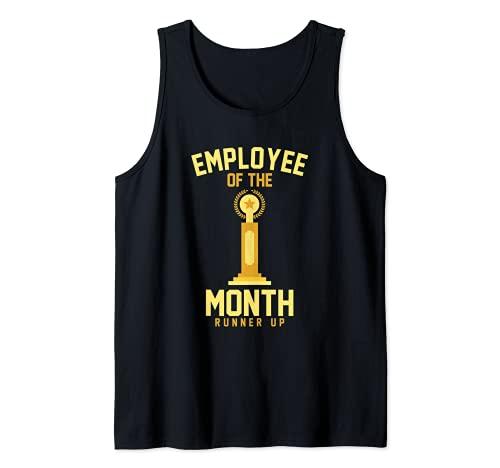 Empleado del Mes Runner Up Funny Job Trophy Camiseta sin Mangas