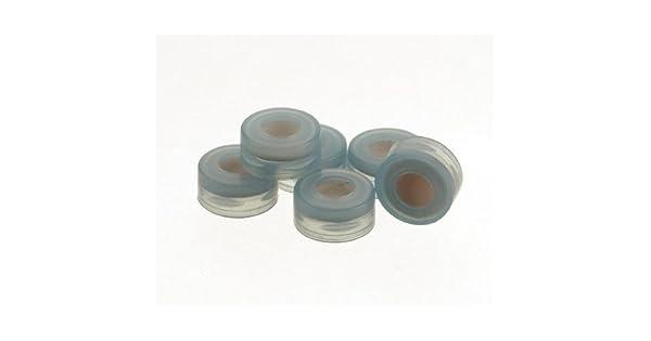 PTFE//Silicone Septum Yellow Pre-Slit Polypropylene Pack of 1000 National Scientific C5000-55G Target DP Robo Cap